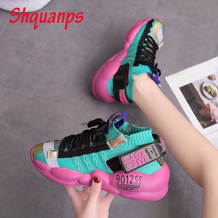 Luxury Shoes Woman Breathable Platform Trainers Brand Casual Shoes new Zapatillas Mujer Scarpe Donna Basket Femme Sneakers Women