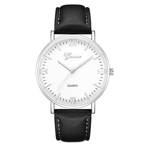 Geneva Mens Luxury Brand Watches Stainless Steel Analog Quartz Ladies Dress Wristwatches Clock Women's Watch montre homme QG