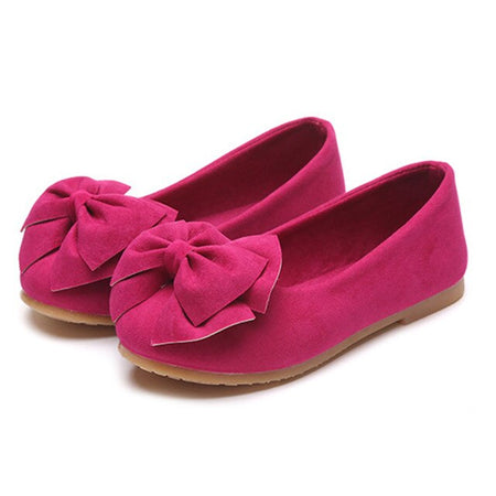 Children Baby Girl Princess Shoes Bowknot Solid Color Anti-slip Breathable for Party M09
