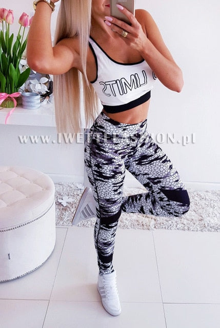 Women Fitness Yoga Pants Slim High waist Leggings