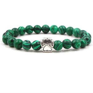 Trendy Lion Gold Bracelet Buddha Beads Bracelets Bangles Charm Natural Stone Bracelet For Men Women Accessories Jewelry Gifts