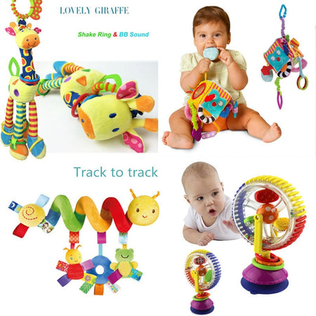Soft Baby Toys 0-12 Months musical Crib Stroller Hanging Spiral kids sensory Education Toy For newborns toddler Bed Bell rattles