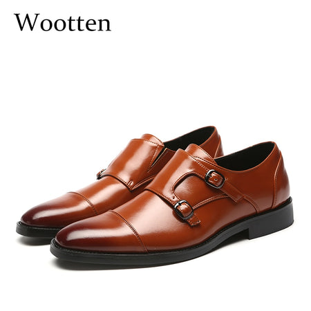 37-48 loafers men leather Brand elegant luxury classic Plus Size Breathable Comfortable fashion men casual shoes #706