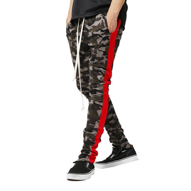 SHUJIN Patchwork Drawstring Men's Cargo Pants Patchwork Army Trousers Camouflage Casual Long Pencil Pants calcas para homens