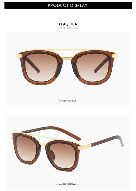 Retro Women Sunglasses Fashion Round Sunglasses Gradient Lens Red Sun glasses Luxury Brand Designer shades female glasses