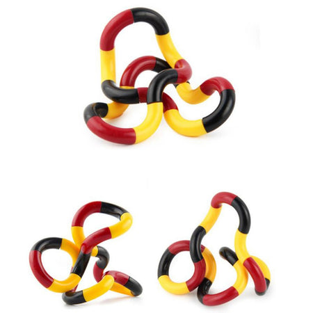 Stress Relief Roller Twist Finger Decompression Toy Torsion Ring Vent Toys for Children Kids Young Adults