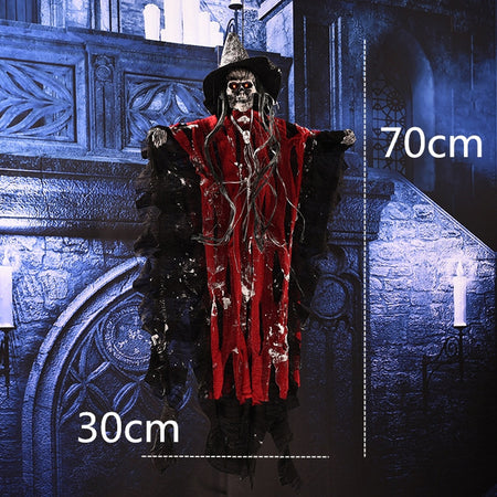 Horror Halloween Ghost Halloween Hanging Ghost Electric Ghost Home Door Bar Club Creepy Scary Halloween Decorations Horror Props