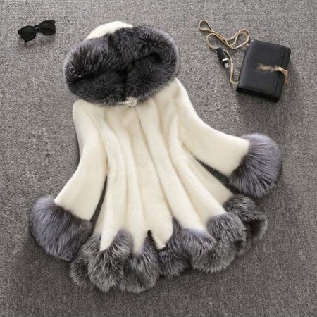 Luxury Women Winter Long Hooded Faux Fur