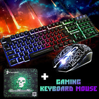 Elegant Mechanical Gaming Keyboard+mouse