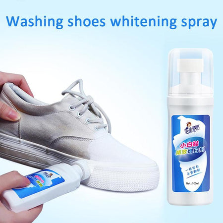 1pc Washing Shoes Whitening Spray White Shoes Cleaner Whiten Refreshed Polish Cleaning Tool For Casual Leather Shoe