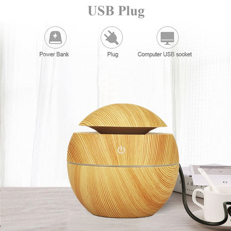 130ML Air Ultrasonic Humidifier with LED Light Lamp