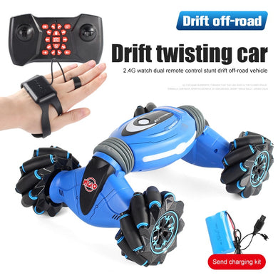 NEW Remote Control Stunt Car Gesture Induction Twisting Off-Road Cars Vehicle Light Music Drift Dancing Side Driving RC Toys