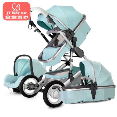 EU fast ship! 3 in 1 baby strollers and sleeping basket newborn 2 in 1 baby stroller Europe baby pram one parcel with car seat