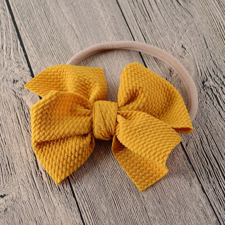 Baby Headband Bow Girl Headbands Toddler Nylon Elastic Hair Accessories Kids Head Band Infant Hairband Newborn photography Props