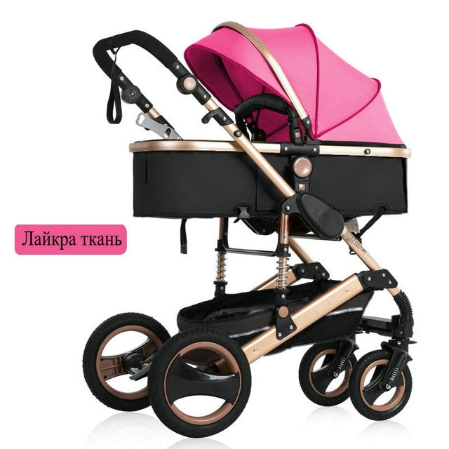 2020 new baby trolley high landscape 3 to 1 baby stroller double faced children free shipping in four seasons in Russia