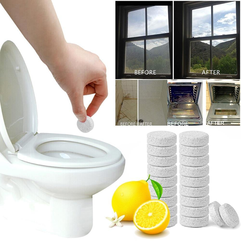 1/10/20PCS Multifunctional Effervescent Spray Concentrate Cleaner Home Toilet Cleaner Chlorine Tablets Household Cleaning Tool