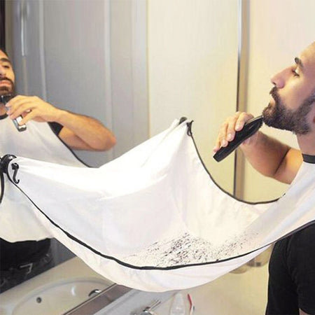120x70cm Beard Shaving Apron Bib Trimmer Face Haircut Male Beard Care Shaving Waterproof Apron Bathroom Products
