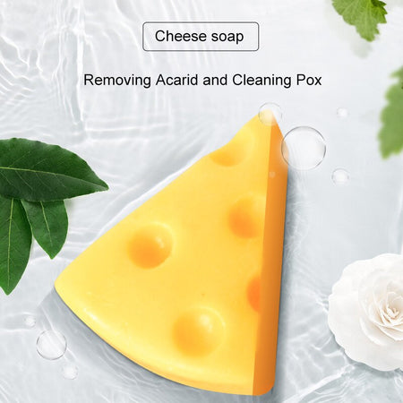 Cheese Cleansing Soap Anti Mites Pore Cleaning Acne Treatment Facial Soap EY669