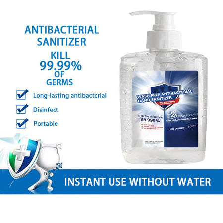300ml Anti Bacterial Disposable Hand Sanitizer Hand Disinfection Gel Quick-Dry Handgel 75% Ethanol for Kids Adults Home Bathroom