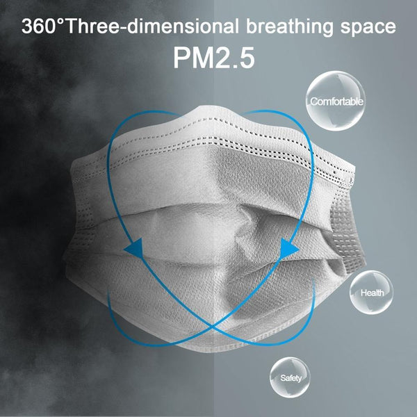 10/50pcs Men Women adult Cotton Anti Dust Mask Activated Filter 3 layers mouth mask muffle Bacteria Proof Flu Face Masks