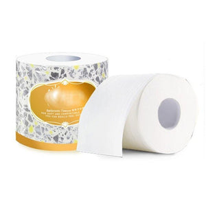 1roll White Soft Toliet Paper 3ply Household Eco-Friendly Bath Tissue Paper 110g Home Toilet Tissue Home Clean Towel