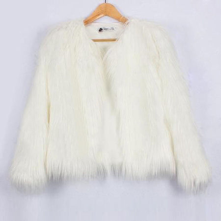 Luxury Warm Ladies Faux Fox Fur