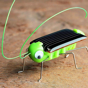 New 1 PCS Children Baby Solar Power Energy Insect Grasshopper Cricket Kids Toy Gift Solar Novelty Funny Toys