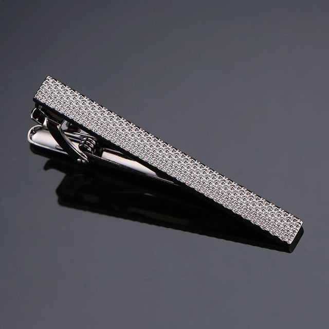DY New and high quality laser engraving tie clip  fashion style  gold  silver and black men's business tie pin Free Delivery