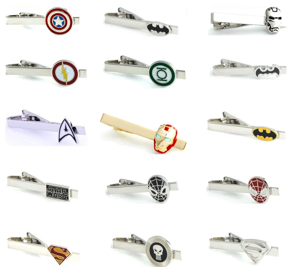 iGame Men Tie Clips Various Designs Option Novel Superheroes Design Copper Material Men Tie Pins Whoelsale&retail Free Shipping