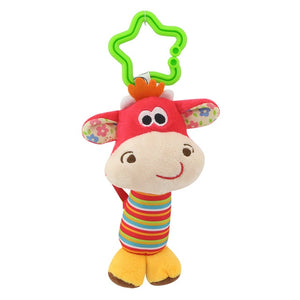Hanging Plush Baby Toy Rattle Lovely Cartoon Animal Bell Newborn Stroller Accessories Baby Toys 6 Style Lion Deer Elephant