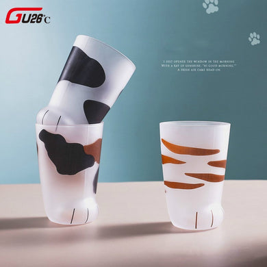 Creative Cute Cat Paws Glass Tiger Paws Mug Office Coffee Mug Tumbler Personality Breakfast Milk Porcelain Cup Gift