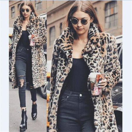 New Luxury Faux Fur Coat