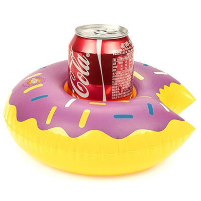 PIKAALAFAN Mini Inflatable Cup Holder Small Flamingo Floating Crab Cute Cartoon Animal Fruits Toy Pool Bathing Party Decoration