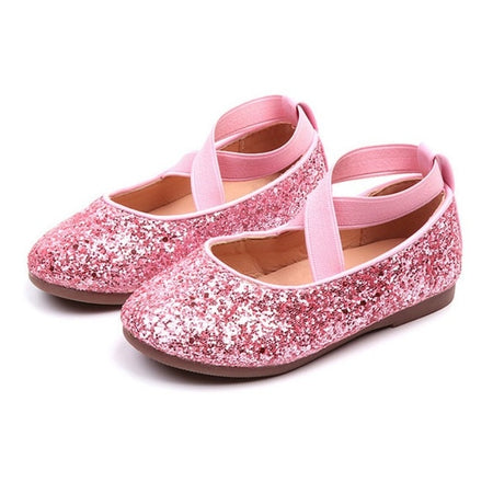 Fashion Baby Girls Shoes Ballet Flat Shoes for Wedding Party Princess Dress Shoes for Girls