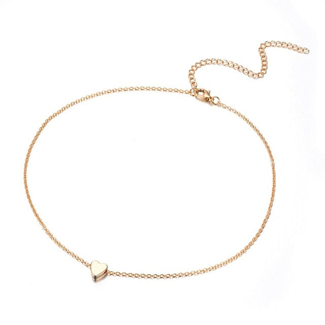 Cute simple multi-layer necklace chain