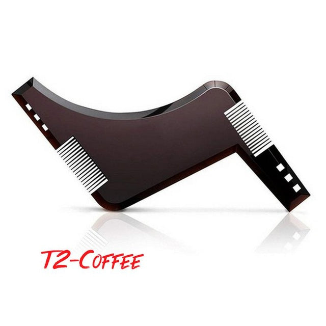 New Arrivals Men Beard Shaping Styling Template Comb Transparent Men's Beards Combs Beauty Tool For Hair Beard Trim Templates