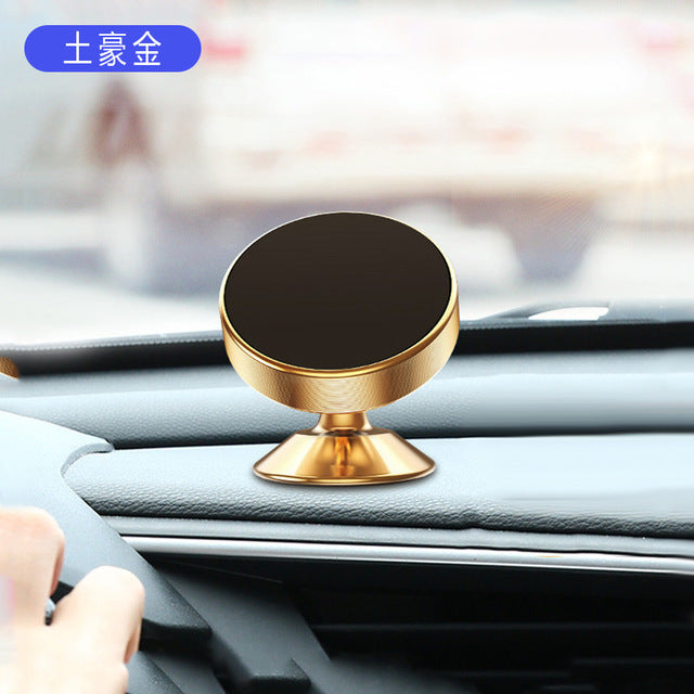 Magnetic Car Phone Holder 360 Degree Metal Bracket Car Universal Mobile Phone Holder Support Self-Priming Magnet Car Accessories