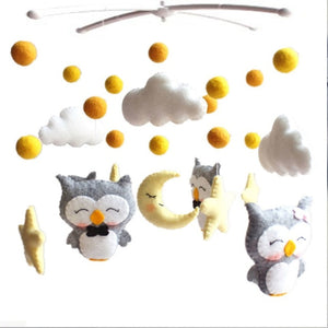Pregnant Mom Handmade Baby Rattles Set DIY Bed Bell Material Package Toy Newborn Infant Crib Mobile Bed Bell Toys