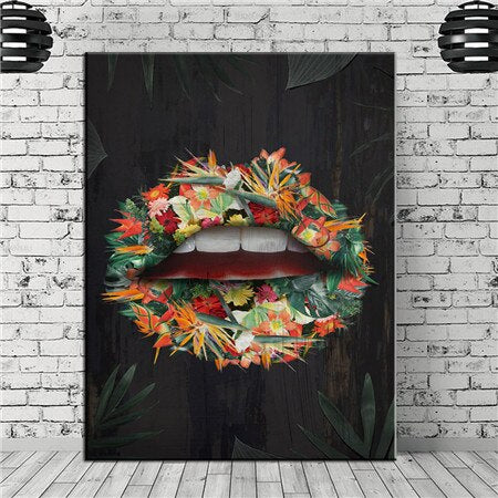 Canvas Painting Wall art Money Speak decor poster canvas painting Wall art poster print lips on canvas home decor Wall Picture