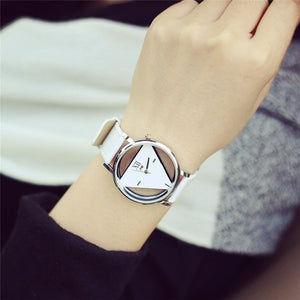 Featured Women's Watches Reloj De Mujer The Dial Is A Triangle  Femmes De Quartz Montres Saat  Watch Woman Stretch Kit Hand@50