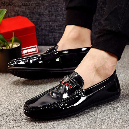 Mocassins Loafers Men Spring Slip On Flats Casual Leather Shoes Breathable Mocassin Homme Luxury Brand British Driving Shoes