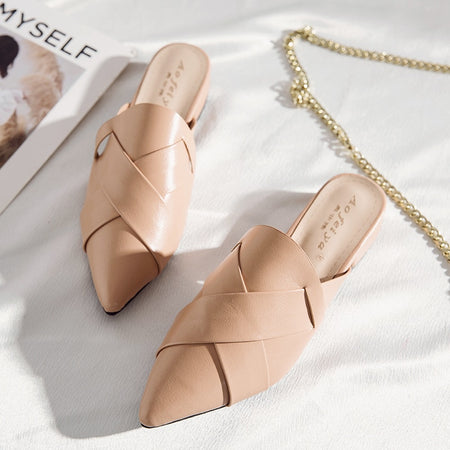 Luxury Women Leather Shoes