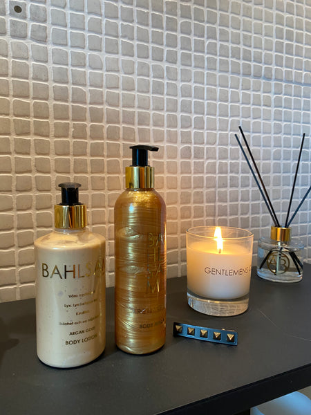 Body wash Argan gold och Body lotion Argan gold ⎮ Bahlsam