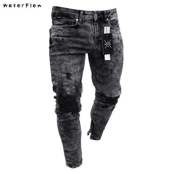 WaterFlow | Men's Jean Wear | Skinny Slim Ripped Pants