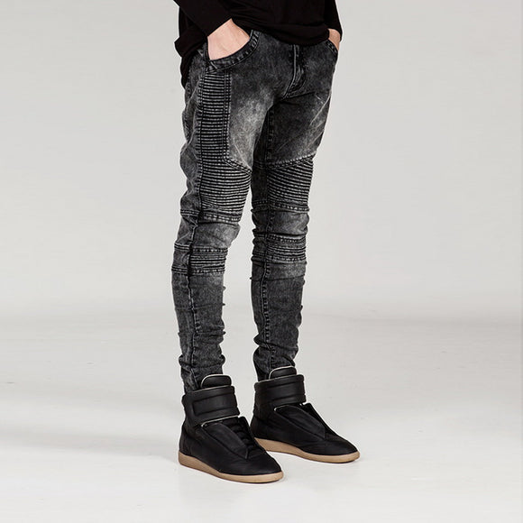 HEFLASHOR | Men's Jean Wear | Skinny Stretch Slim Pants