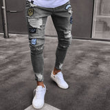 MEUGLEMENT | Men's Jean Wear | Skinny Slim Ripped Pants