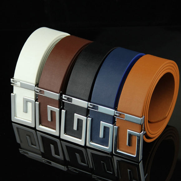 belt men luxury leather Luxury Leather Belts for Men Strap Male Metal Smooth Girdle Buckle Waistband wholesale 30H