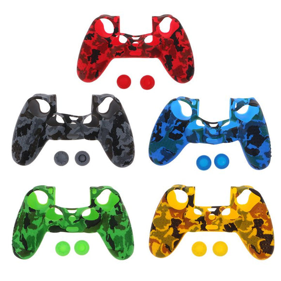 1 Set Protective Cover Thumb Stick Grips Anti-Slip Cap Dustproof Game Accessories for Sony PlayStation 4 PS4 SLIM PRO Controller