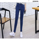 High Waist Warm Jeans For Women Blue Female Black Winter Jeans Women Denim Pants Jean Femme 2018 Ladies Trousers Warm Pants