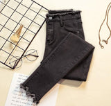 Skinny stretch jeans for women, black denim pants, 2019 spring and autumn small feet pencil pants